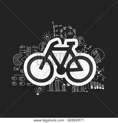 drawing business formulas. bicycle