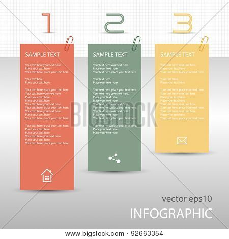 Infographs - tag labels - memo post it notes