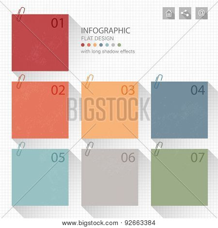 Infographic - memo post it notes