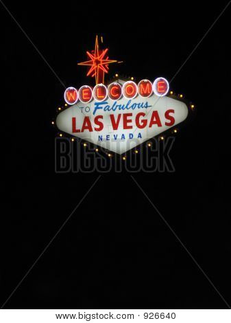 Las Vegas Sign At Night Vertical