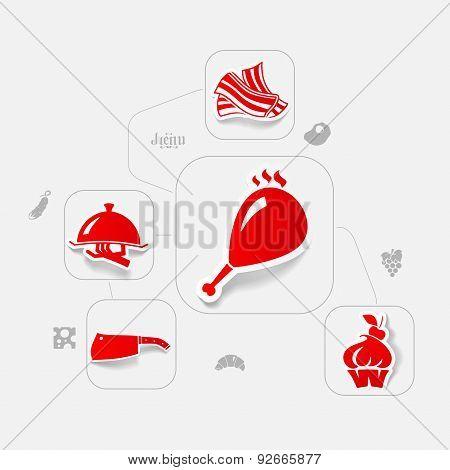 restaurant sticker infographic