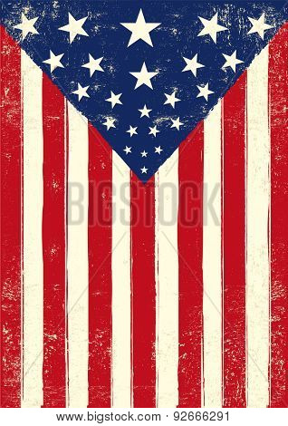 American retro poster grunge. An american grunge flag for you