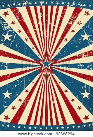grunge patriotic poster. A grunge patriotic poster for you.
