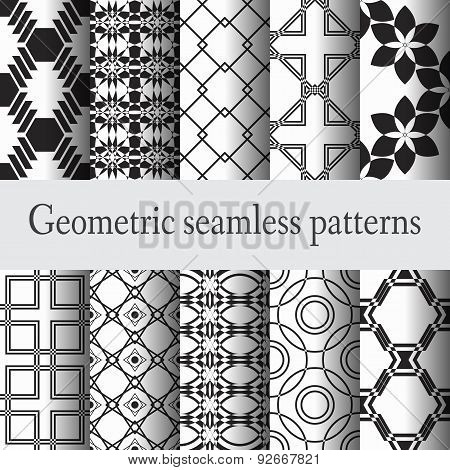 Set 10 geometric seamless pattern