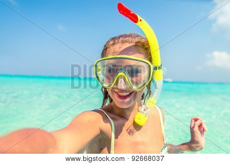 Woman With Diving Mask