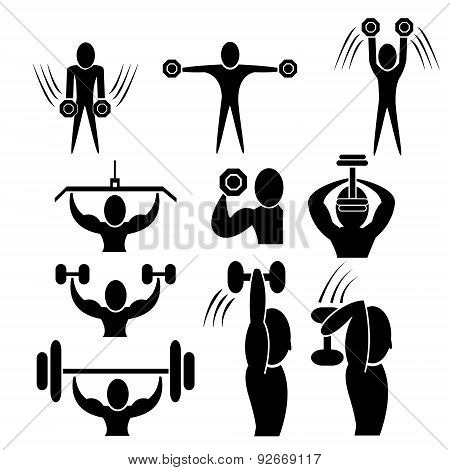 set of fitness icon