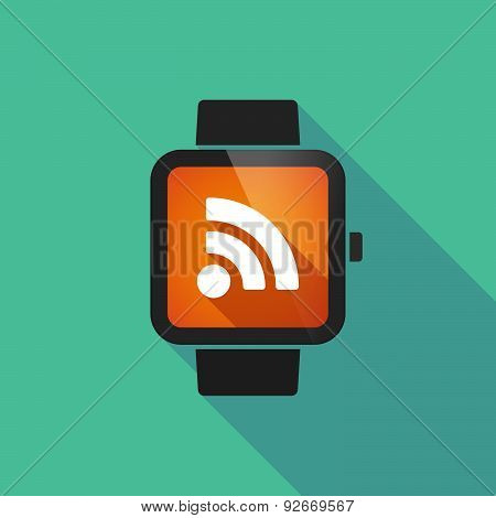 Smart Watch With A Rss Sign