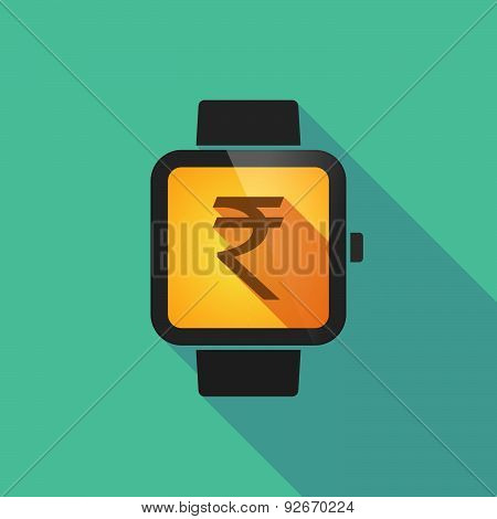 Smart Watch With A Rupee Sign