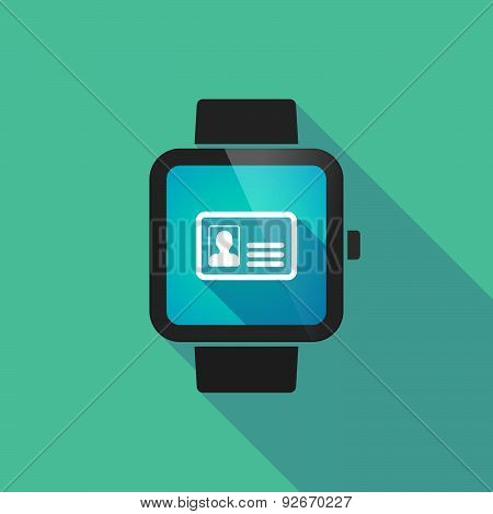 Smart Watch With An Id Card