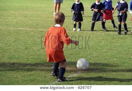 Very  Young Soccer Player