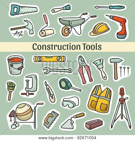 Cartoon Set Of  Operating Tools
