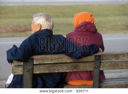 Elderly Couple In The Park