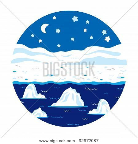 Circle Locations, Little Landscape (winter Polar Night)