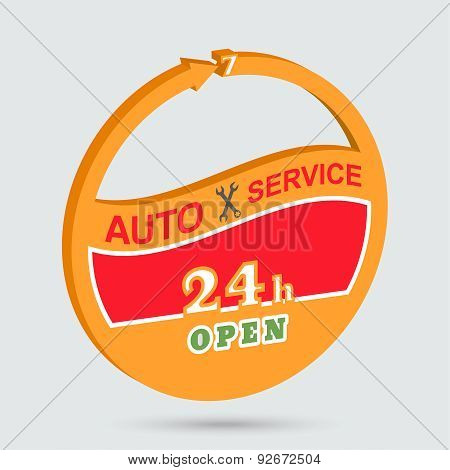 Auto Service Isometric Icon