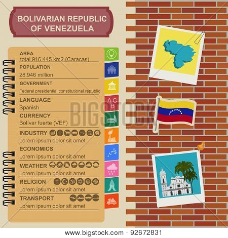 Venezuela infographics, statistical data, sights