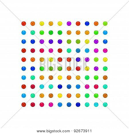 Colorful Candy Square Art