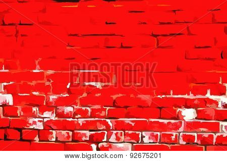 Wall masonry art Russian Red style
