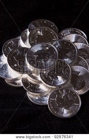 Shiny Silver In A Pile.