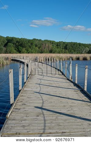 Wood Lake Park Boardwalk Across Marsh