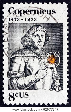 Postage Stamp Usa 1973 Nicolaus Copernicus, Polish Astronomer