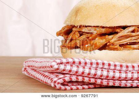 macro pulled pork sandwich