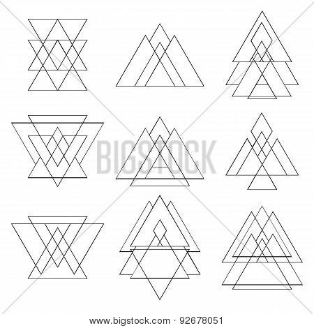 Collection Of Trendy Geometric Shapes. Geometric Icons Set
