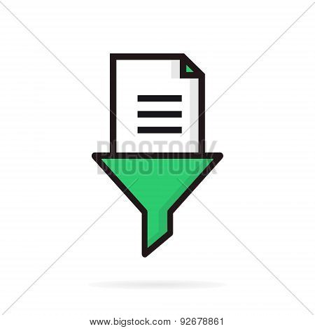 Document funnel or filter logo