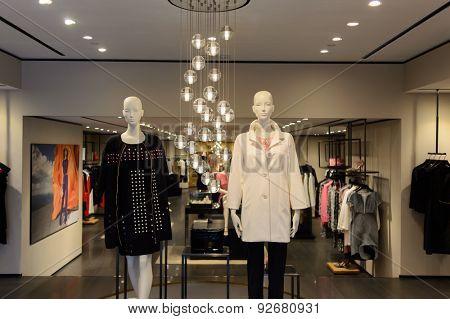 HONG KONG - JUNE 02, 2015: Hong Kong shopping mall interior. Hong Kong shopping malls are some of the biggest and most impressive in the world