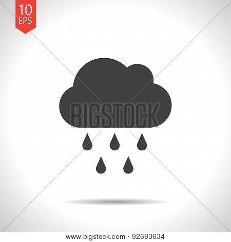 Vector rain icon. Eps10