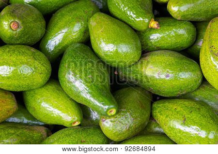 Avocados Fruit Background Sell In Dalat Market