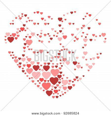 Big Heart Composed From Small Hearts