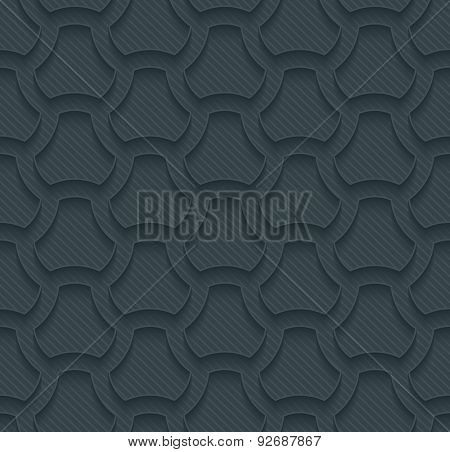 Pavement dark perforated paper with outline extrude effect. 3d seamless background. See others in My Perforated Paper Sets.