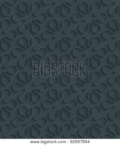 Flowers dark perforated paper with outline extrude effect. 3d seamless background. See others in My Perforated Paper Sets.