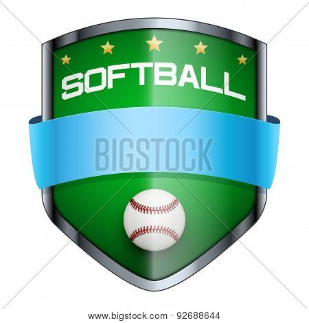 Softball Shield badge.