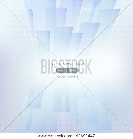 Abstract background with geometric elements, transparent rectangles.
