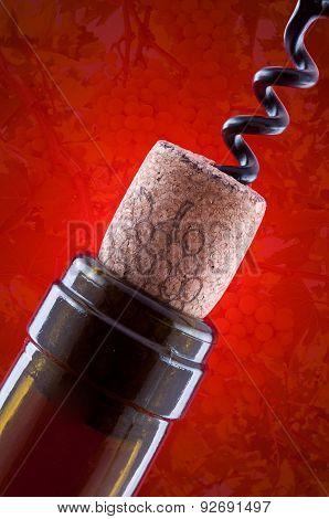 Bottle Cork And Corkscrew