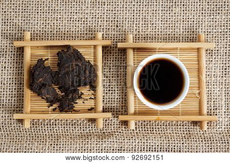 Pressed pieces Puer tea