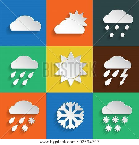 Weather Icons Colored Background