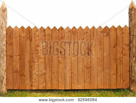 wooden fence isolated on white
