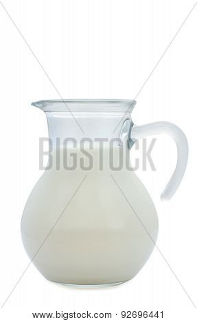 milk in a small see through jug