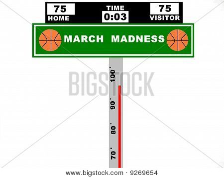 March Madness Basketball Score Board Sign