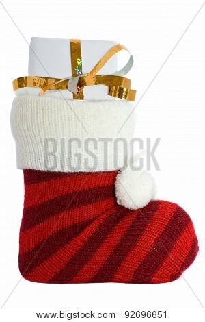 christmas stockings isolated on white background