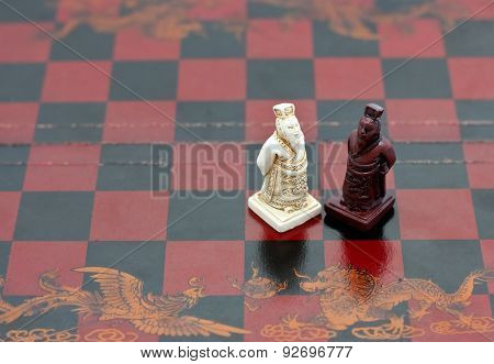 wise old men Chinese chess pieces