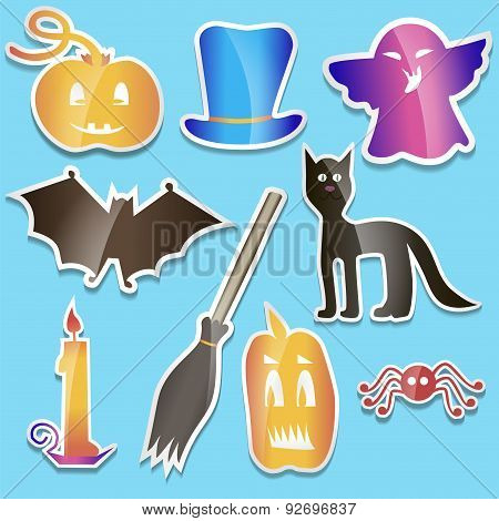 Helloween Colored Stickers