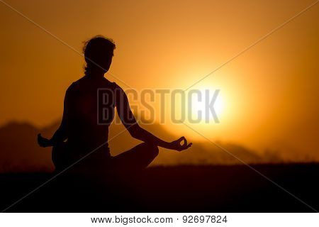 Easy Yoga Pose Silhouette