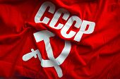 stock photo of communist symbol  - Soviet Flag - JPG