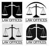stock photo of lawyer  - Law Offices is an illustration of four designs that can be used for law offices - JPG