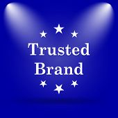 stock photo of trust  - Trusted brand icon - JPG