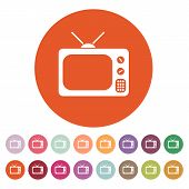 picture of tv sets  - The tv icon - JPG