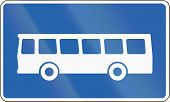 stock photo of motor-bus  - Road sign in Iceland  - JPG